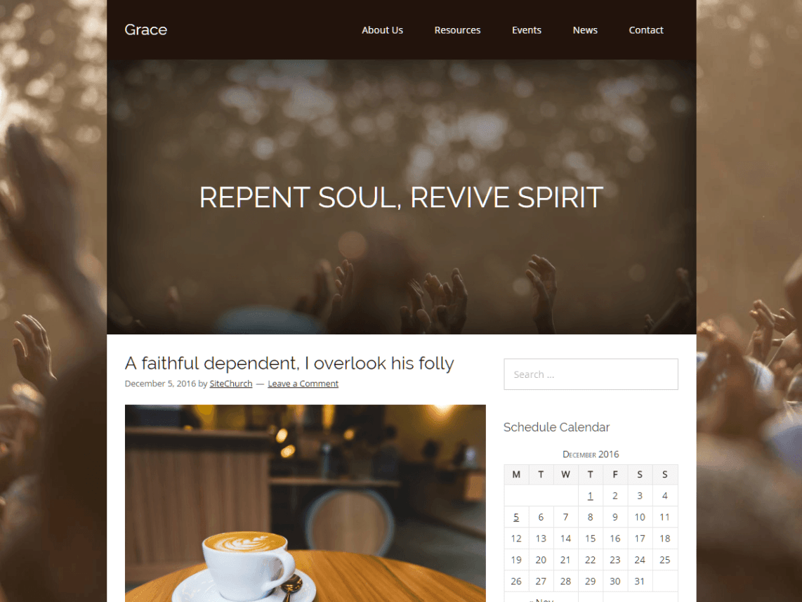 Grace Free WordPress Nonprofit Blog Theme