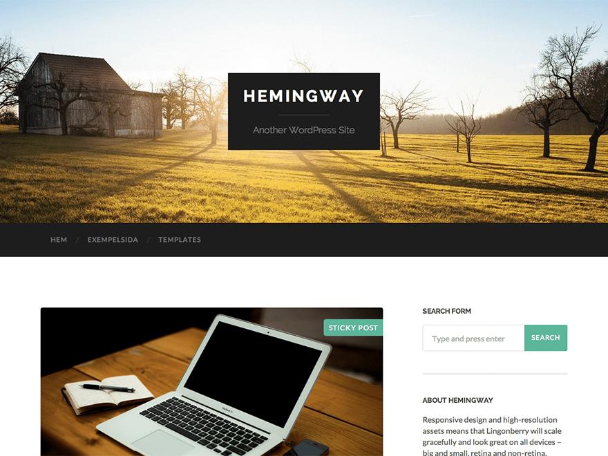 Hemingway Free Bloggers Theme