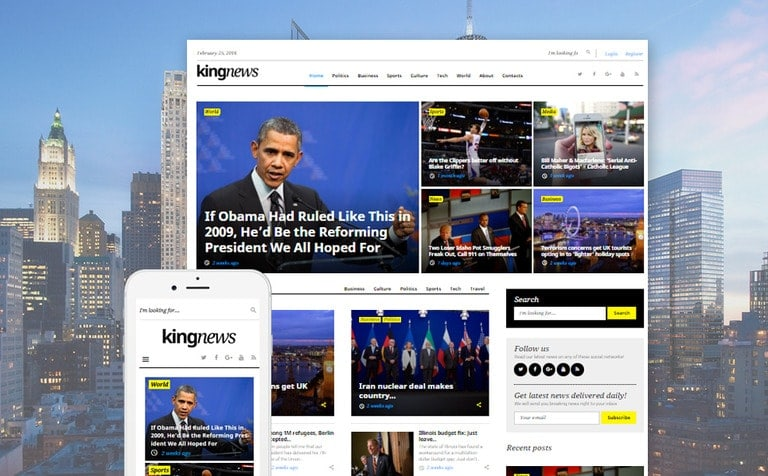 KingNews Magazine News Portal & Blog WordPress Theme