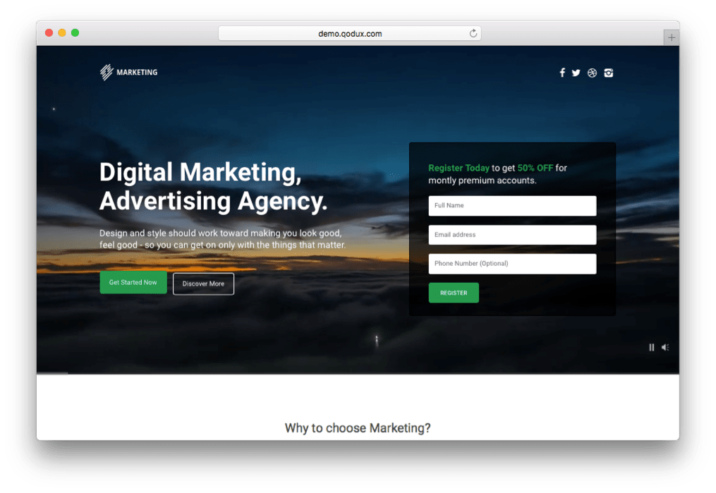 Marketing Digital Agency Theme for WordPress