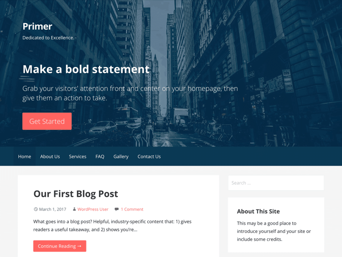 Primer Free WordPress Blog Theme