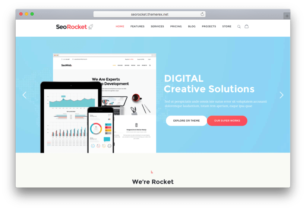 SEO Rocket SEM SMM SMO Marketing Theme for WordPress