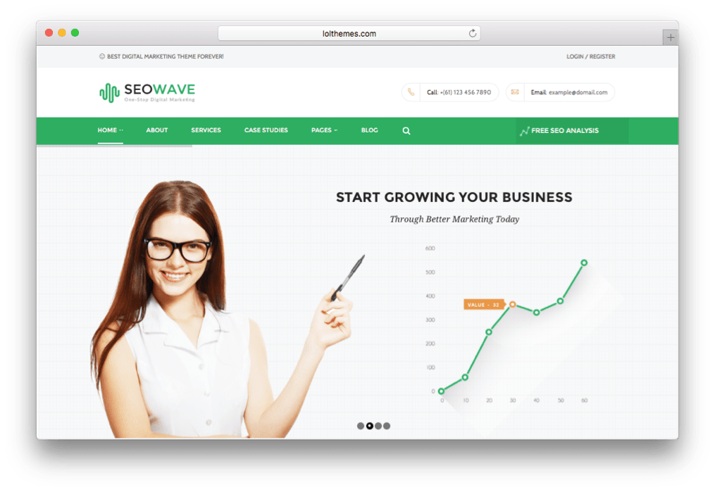 Seo Wave Marketing WordPress Theme for WordPress