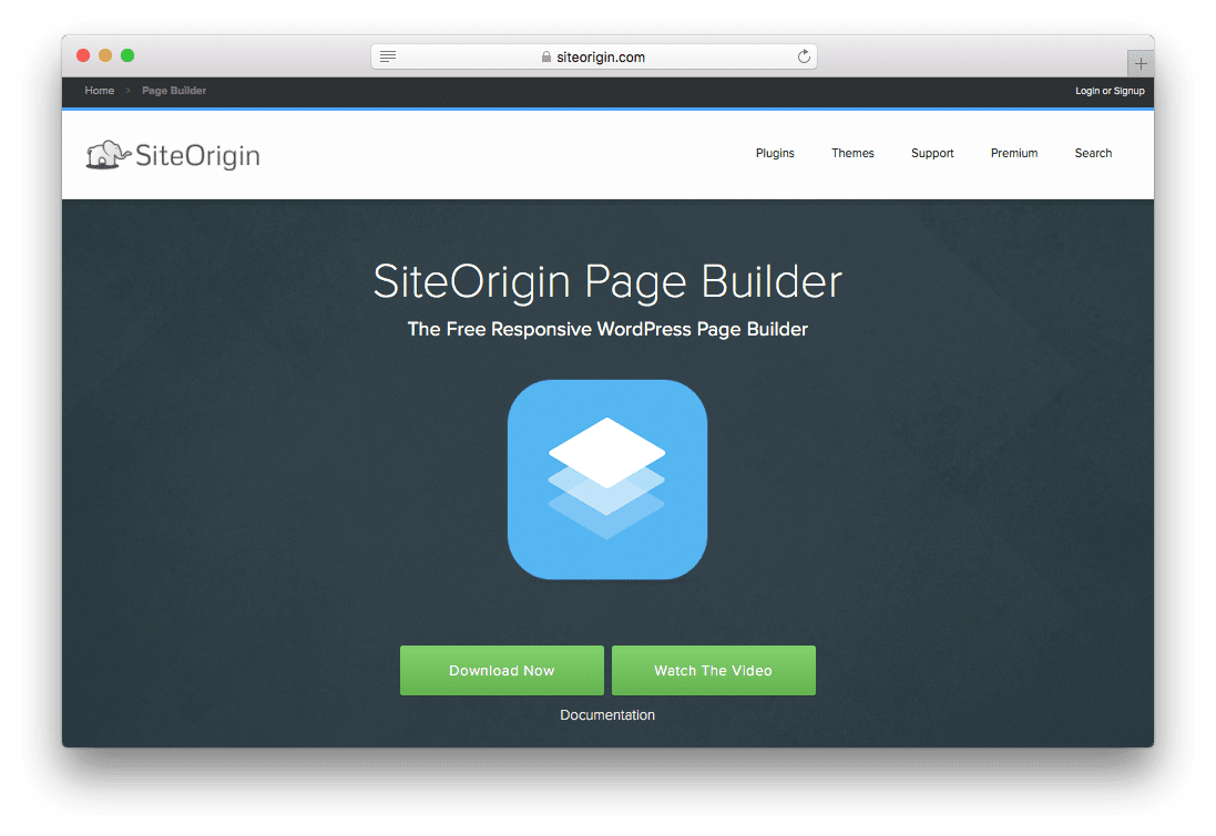 Site Origin Free Page Builder WordPress Plugin