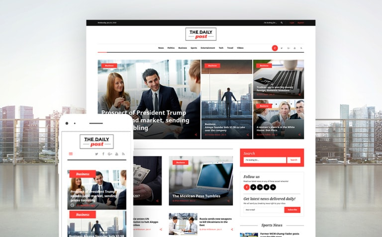 The Daily Post Media & Latest News WordPress Theme