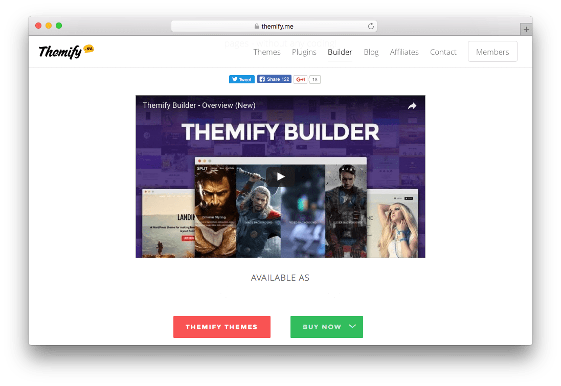 Themify Page Builder WordPress Plugin