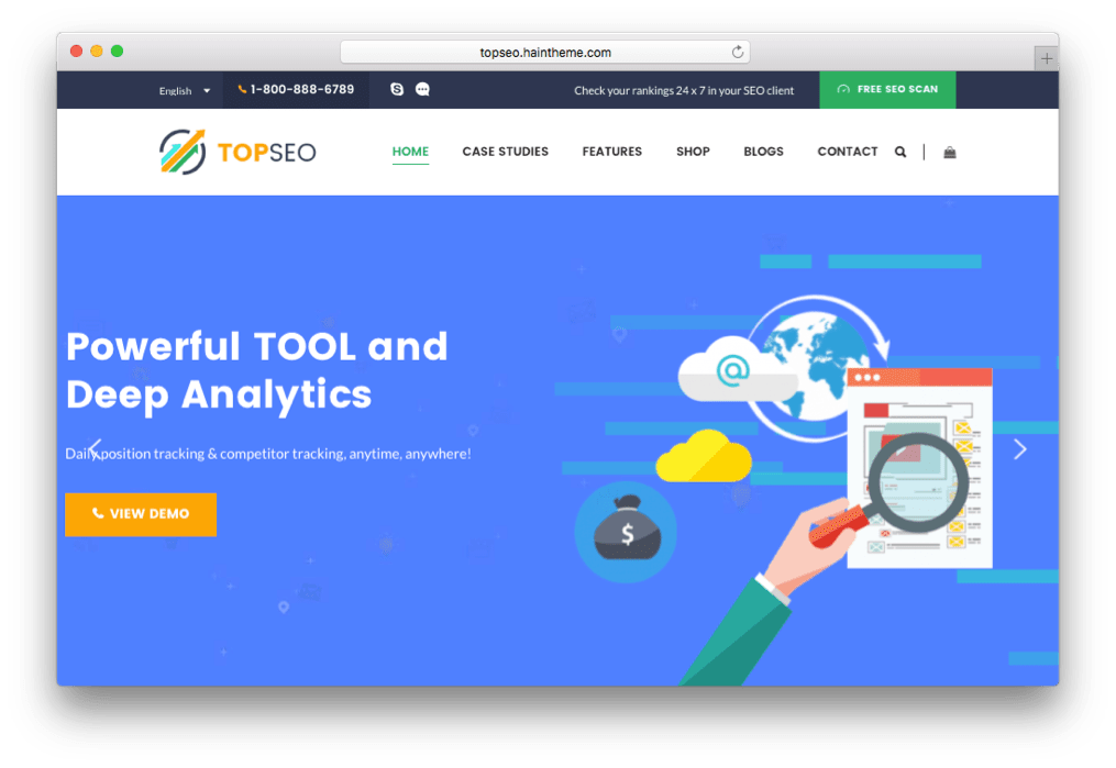 TopSEO SEO & SEM Agency Theme for WordPress