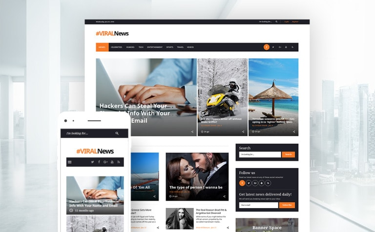 Viral News Portal & Magazine WordPress Theme