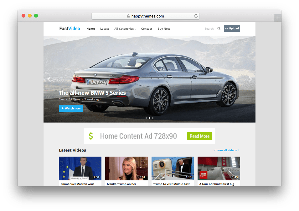 FastVideo WordPress Video Content Theme