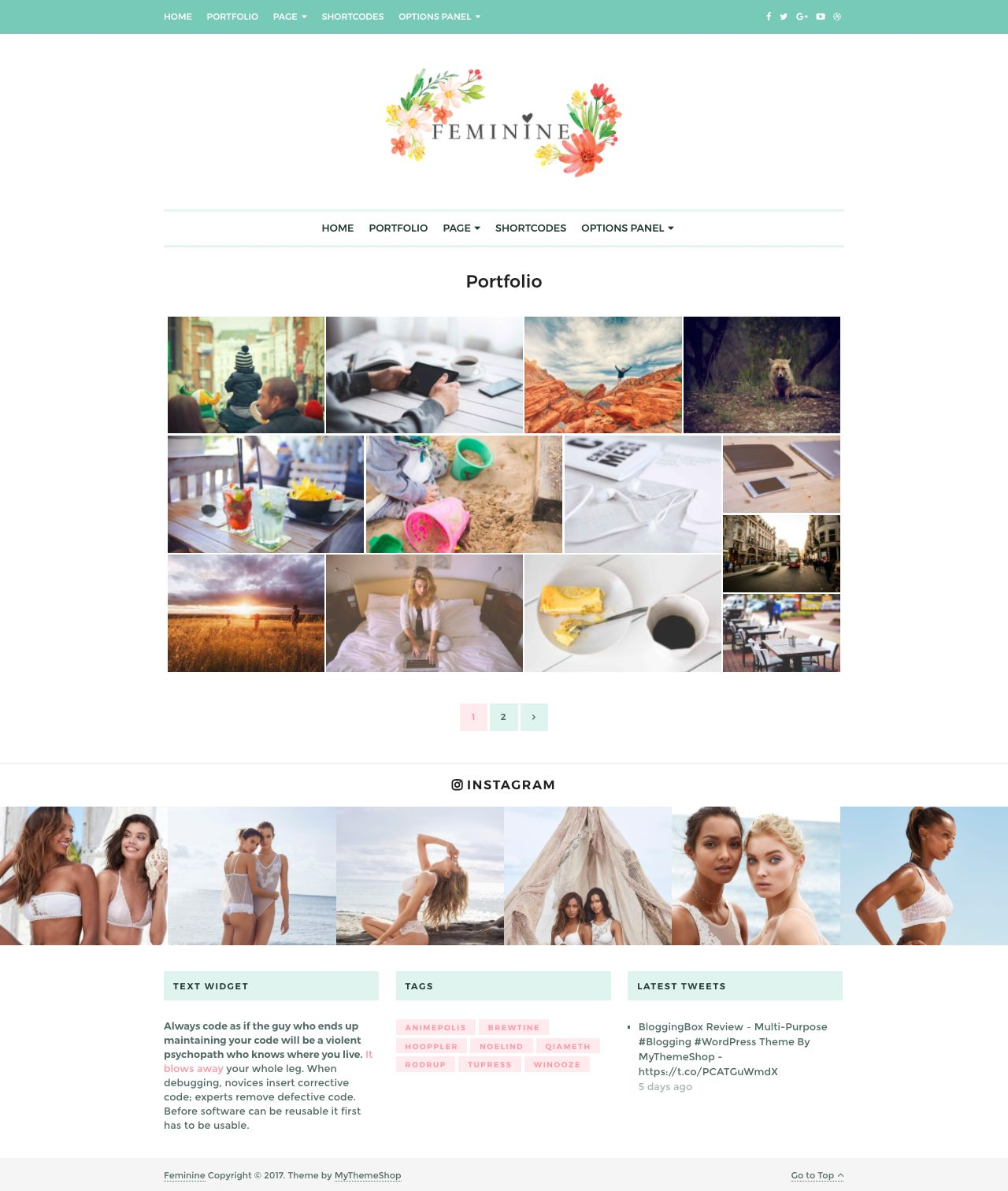 Feminine WordPress Beauty Tips Theme