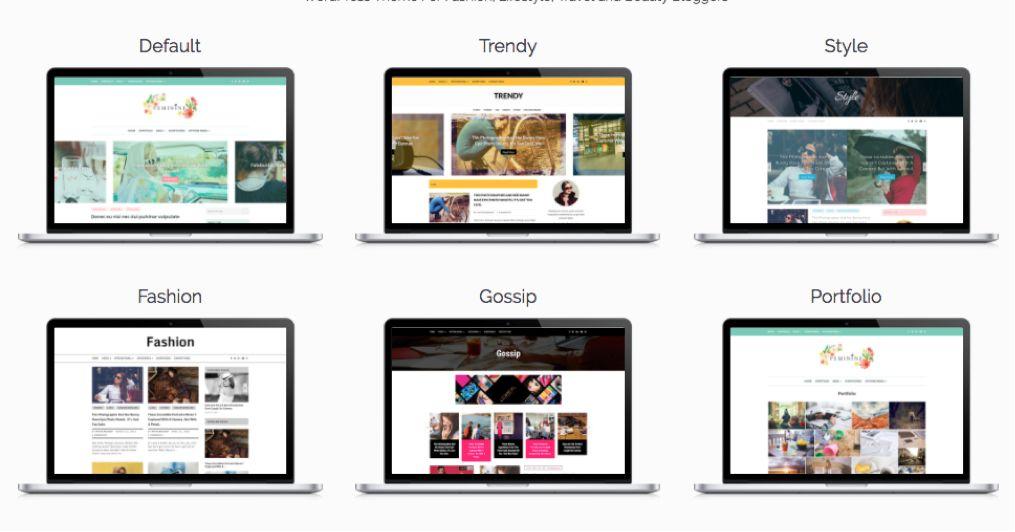 Feminine WordPress Bloggers Theme