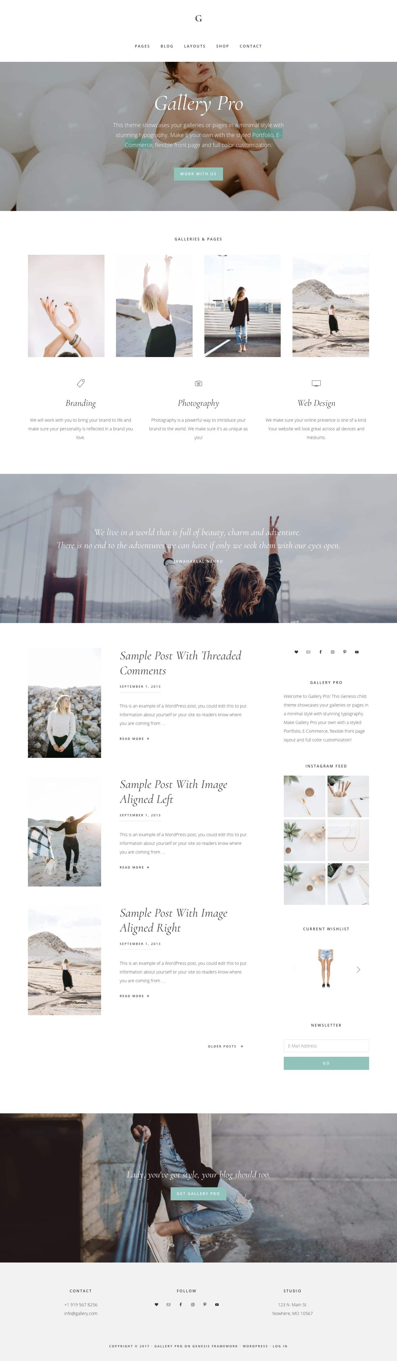 Gallery Pro WordPress Genesis Framework Theme