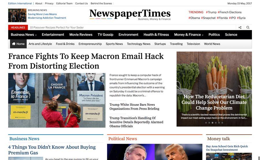 NewspaperTimes WordPress Theme