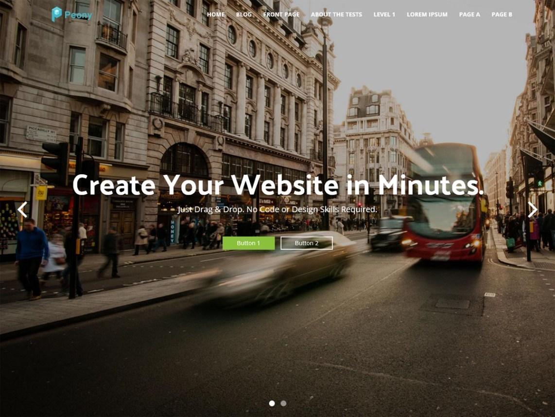 Peony Free WordPress Software Company Theme