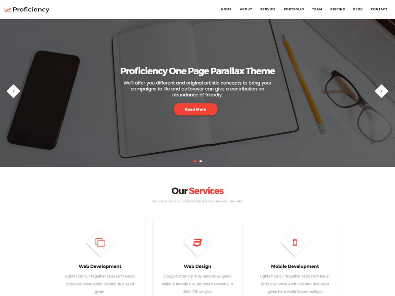Proficiency Free WordPress Business Theme