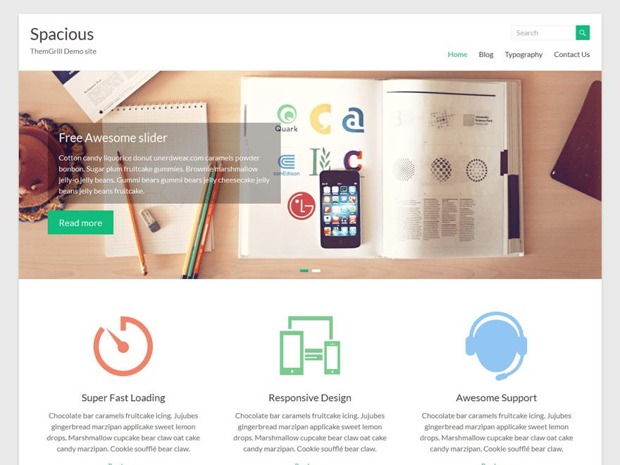 Spacious Free WordPress Software Portfolio Theme
