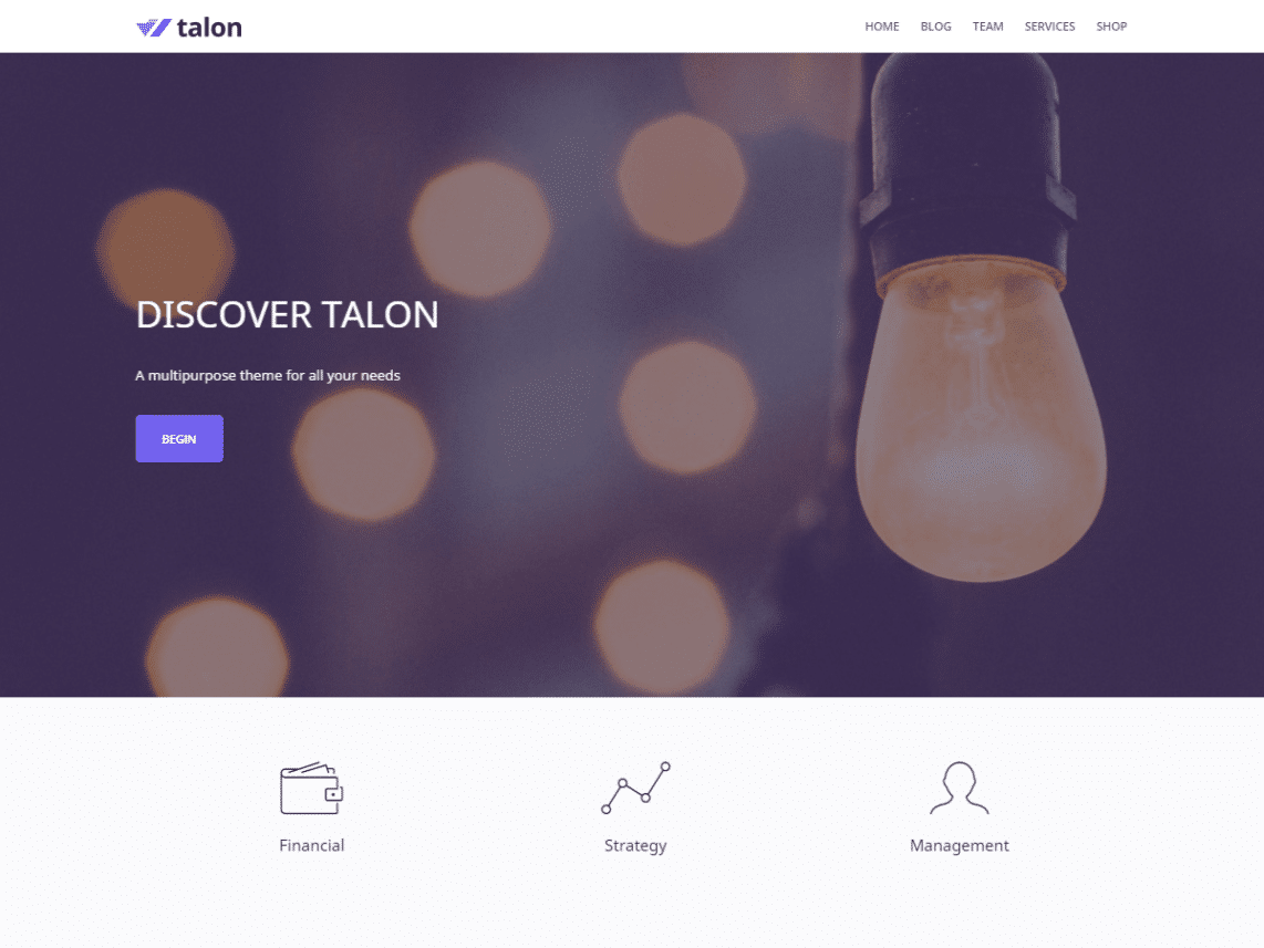 Talon Free WordPress Multipurpose Business Theme