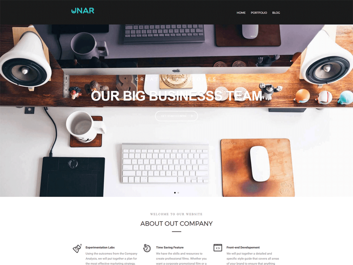 UNAR Free WordPress Software Company Theme