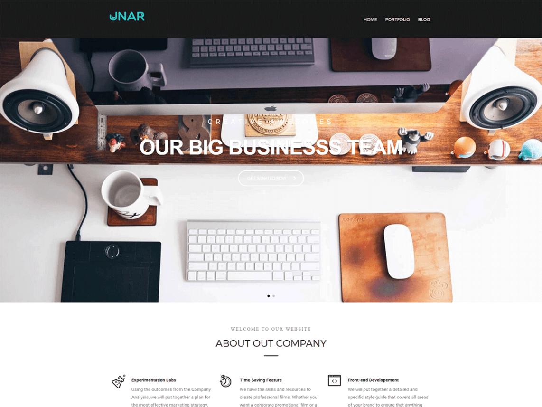 UNAR Free WordPress Software Company Theme