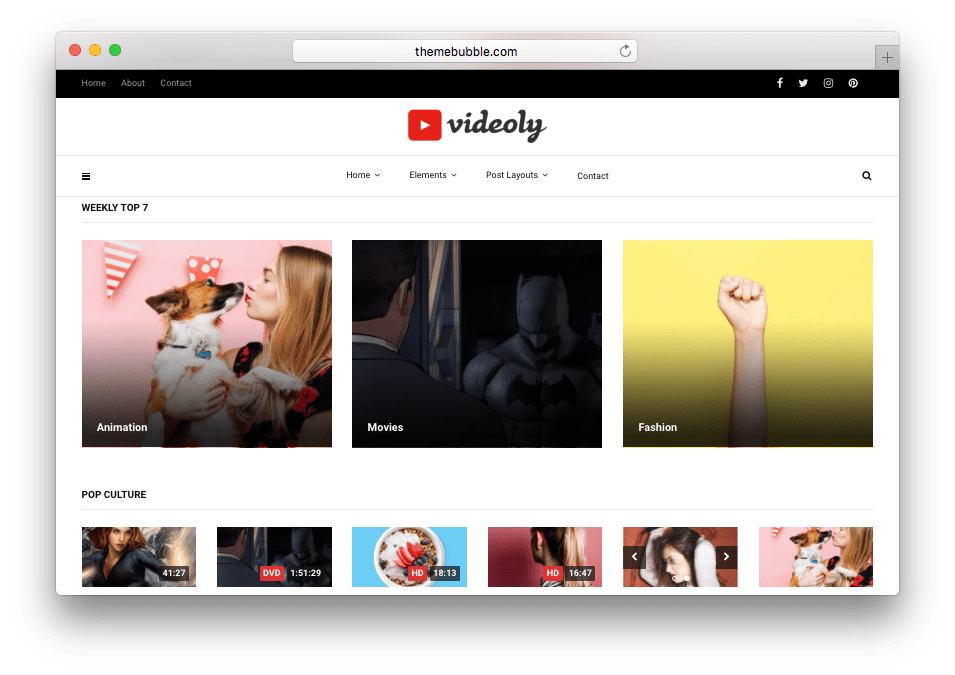 Videoly YouTube like WordPress Video Theme