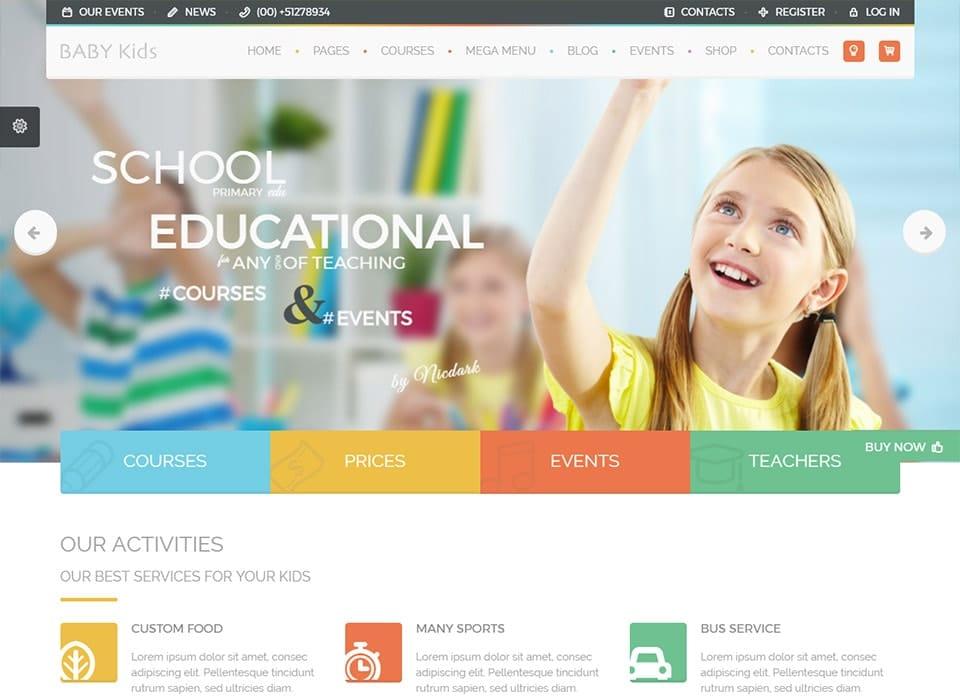 Baby Kids WordPress School Theme