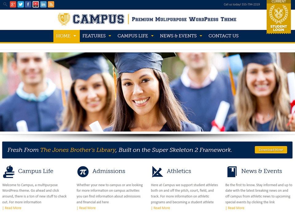 Campus WordPress University & College Theme