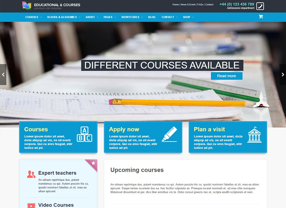 EDU WordPress Online Course Theme