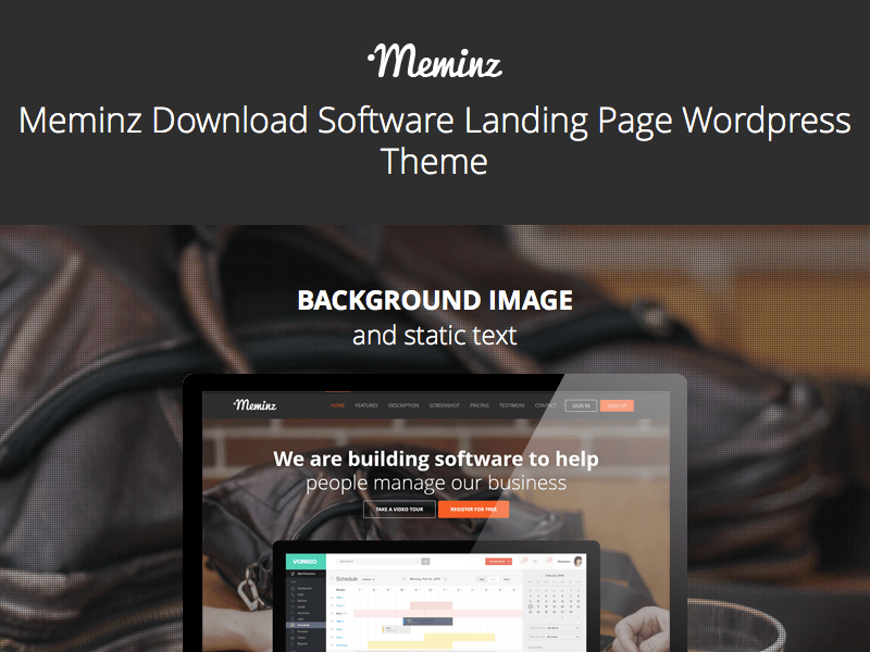 Meminz Download Software Landing Page Theme