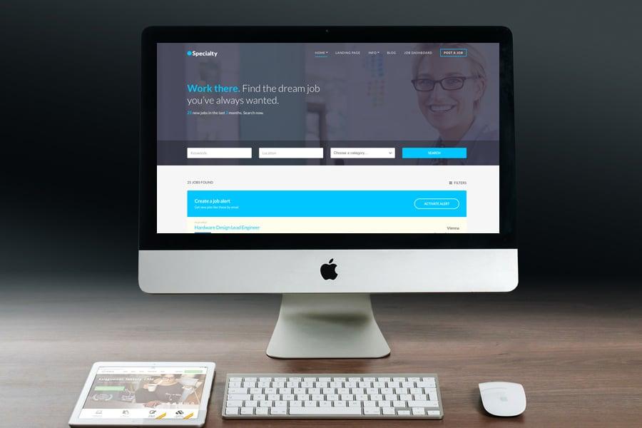 Specialty WordPress Job Board Theme