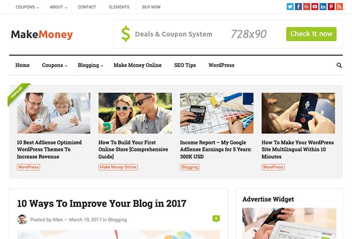 Make Money WordPress Theme