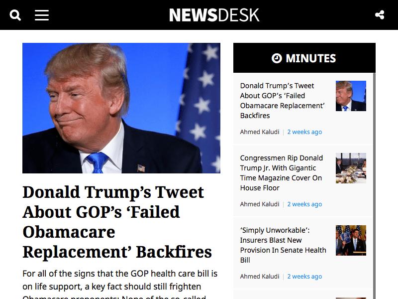 NewsDesk Newspaper Magazine WordPress Theme