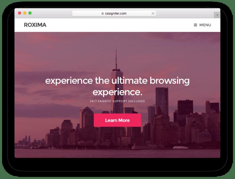 Roxima Small Business WordPress Theme
