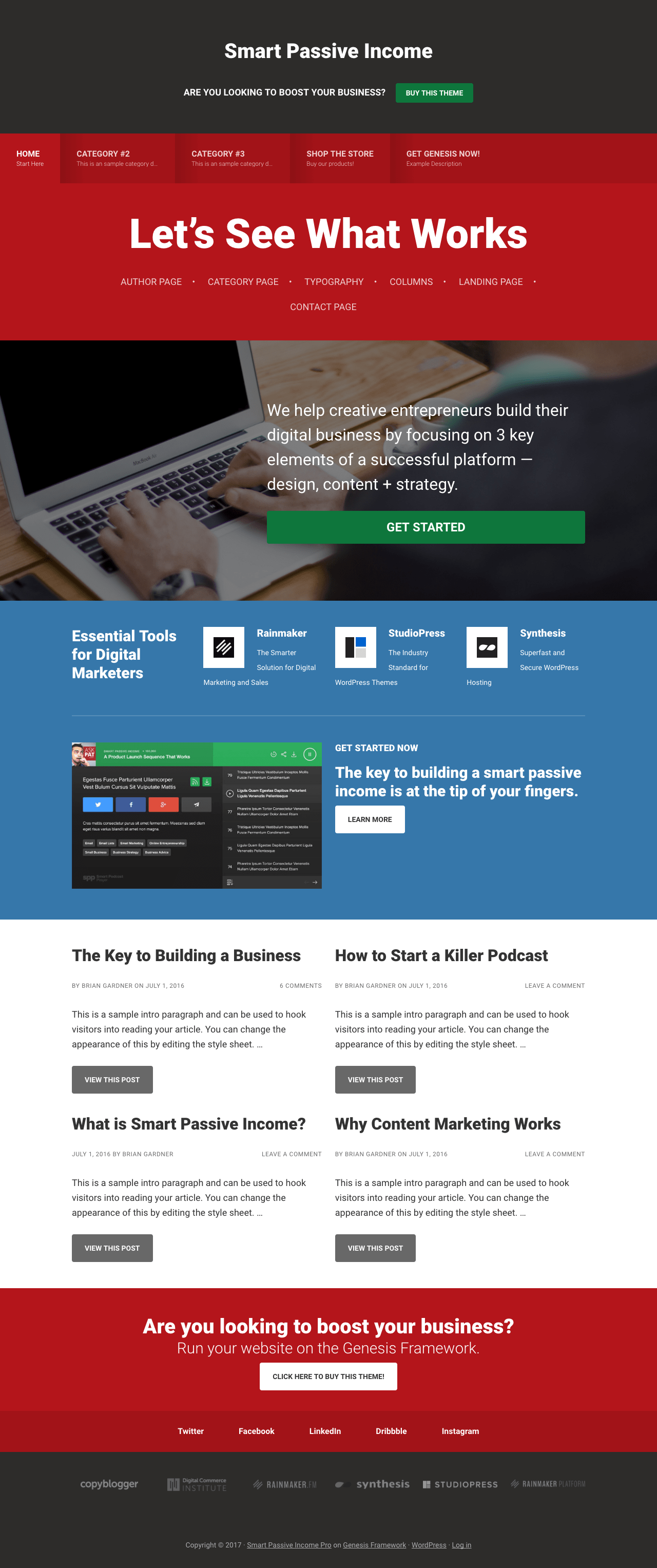 Smart Passive Income Pro Theme