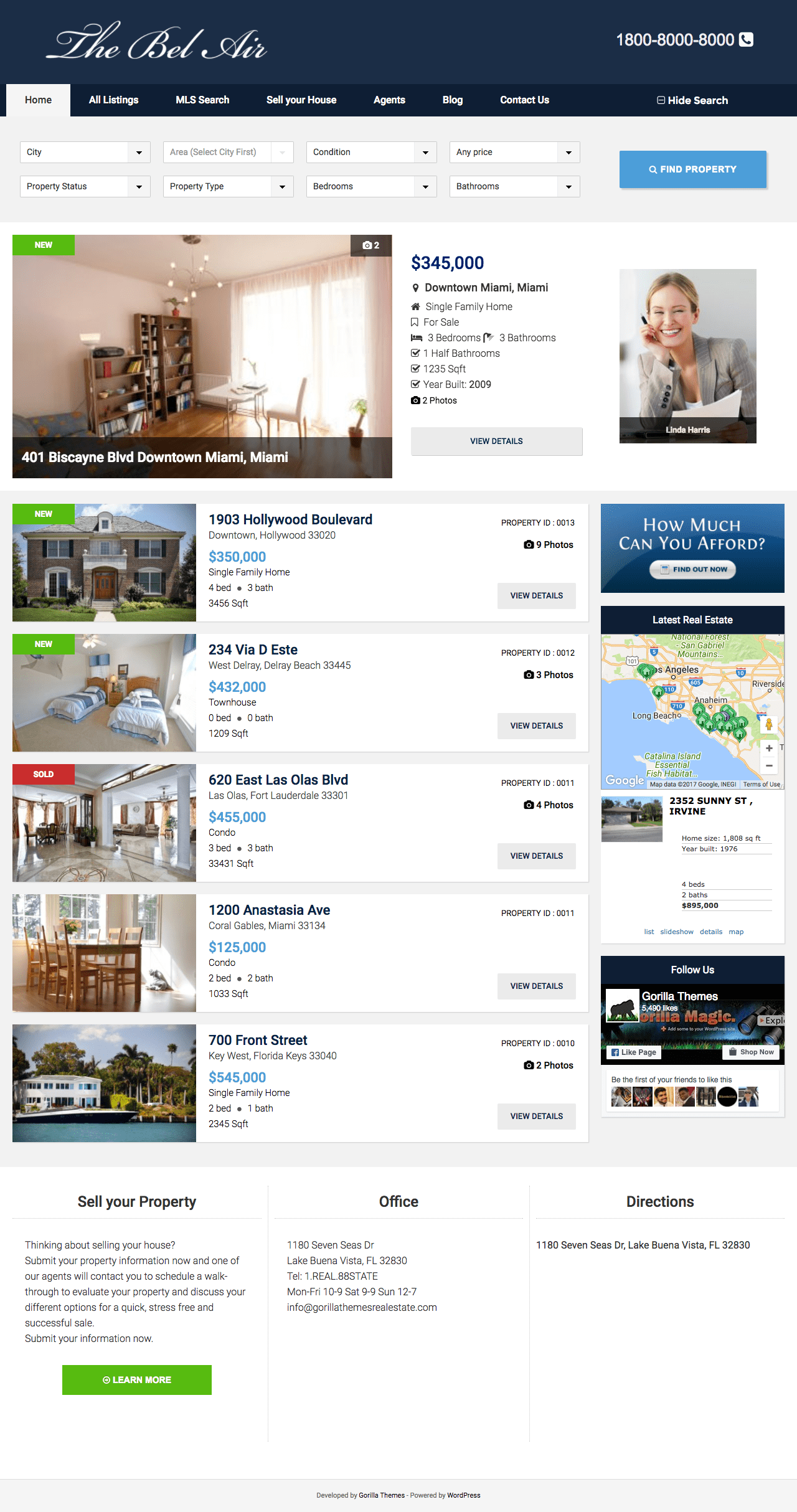 The Bel Air WordPress Real Estate Theme