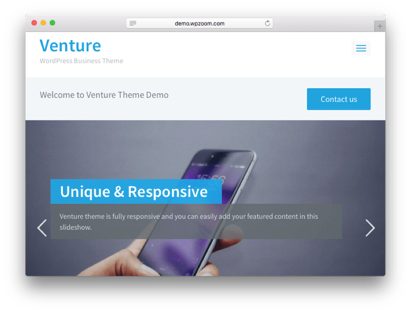 Venture WordPress Theme