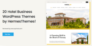 20 Hotel Business WordPress Themes