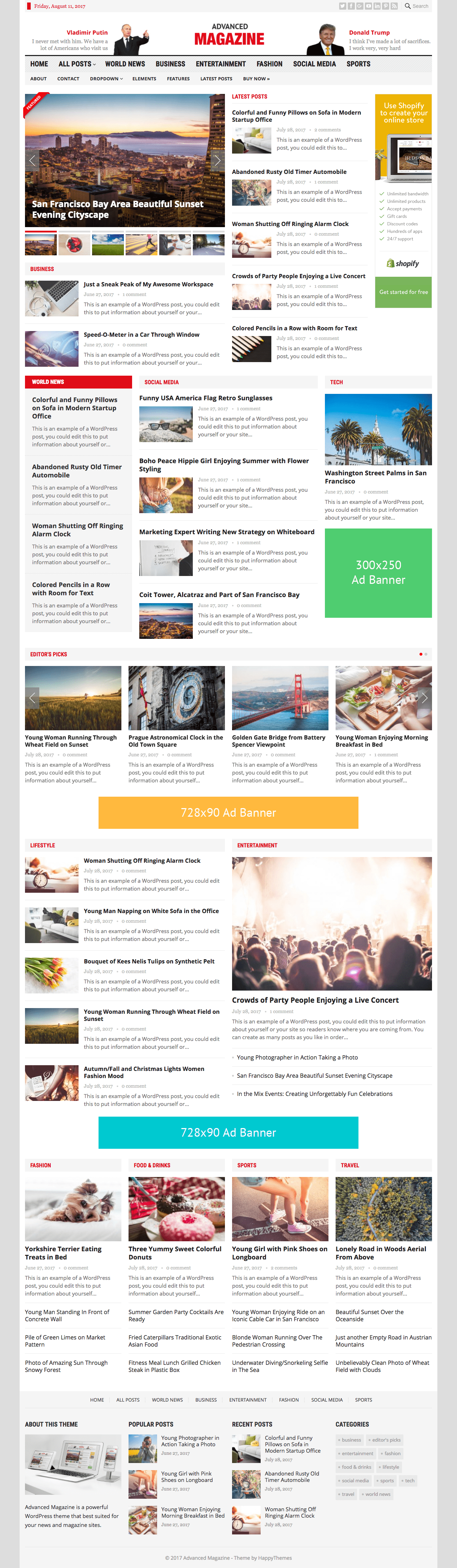 Advanced Magazine WordPress News Theme