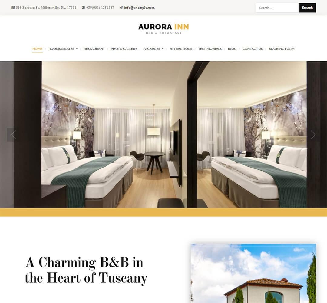 Aurora WordPress Hotel Business Theme