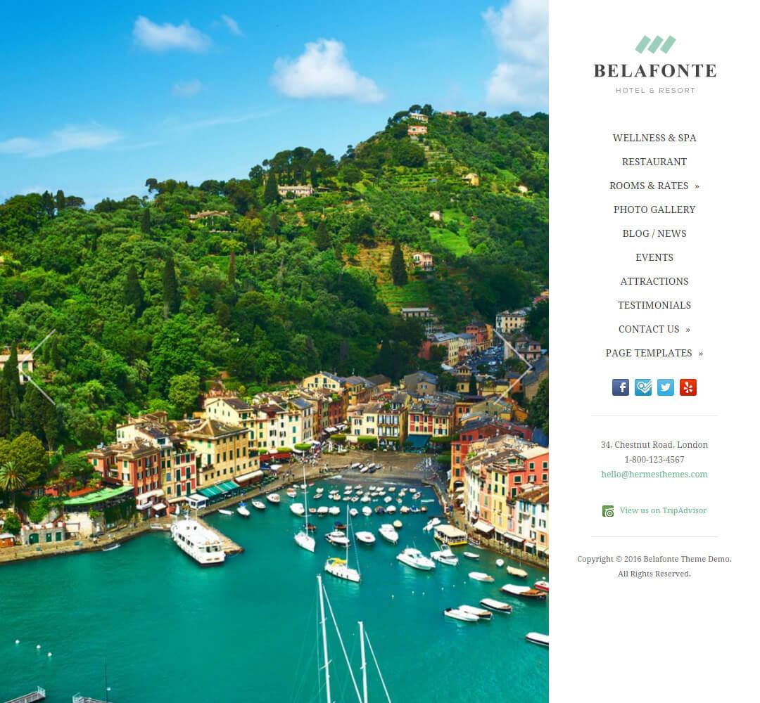 Belafonte Hotel Business WordPress Theme