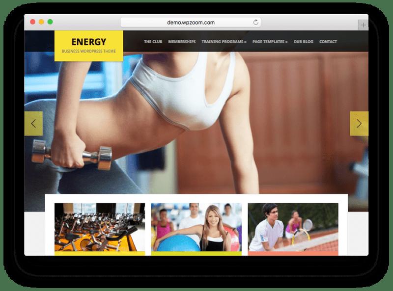 Energy WordPress Theme by WPzoom