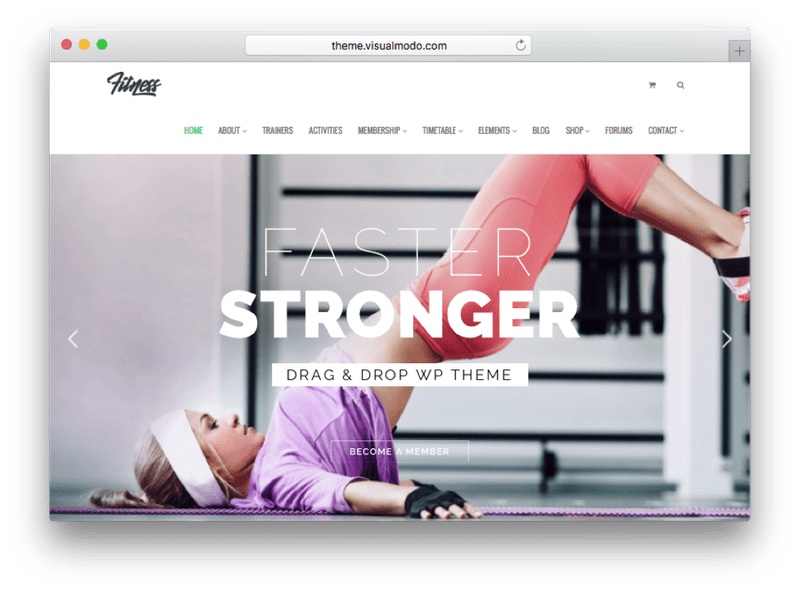 Fitness WordPress Theme by VisualModo