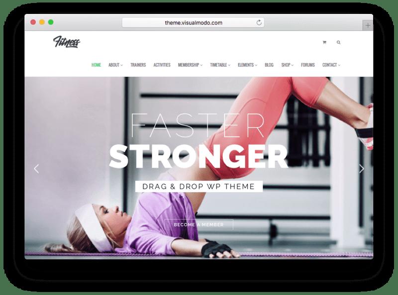 Fitness WordPress Theme by VisualModo