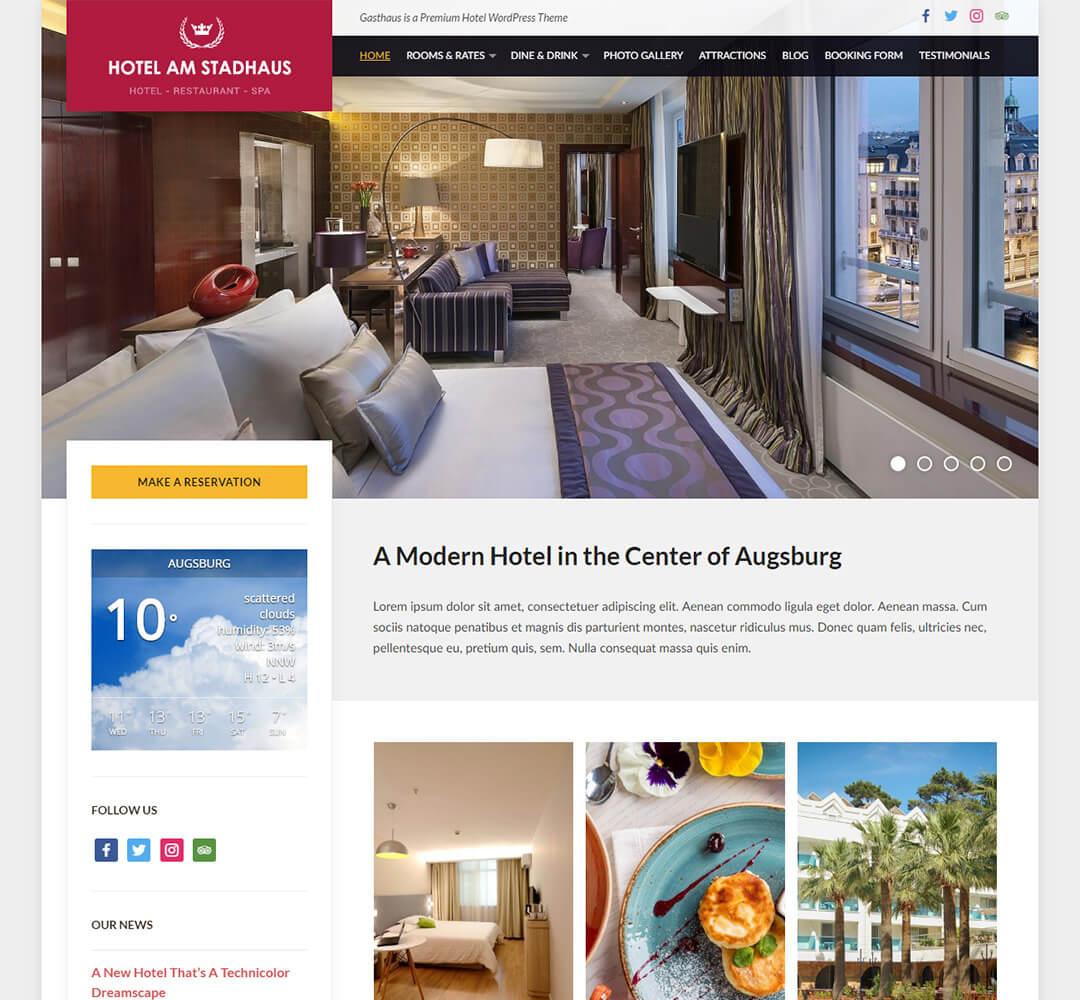 Gasthaus WordPress Hotel Business Theme