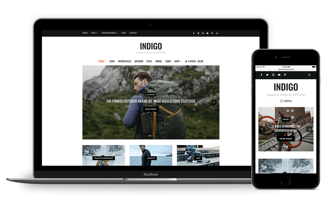 Indigo WordPress Theme for Magazine