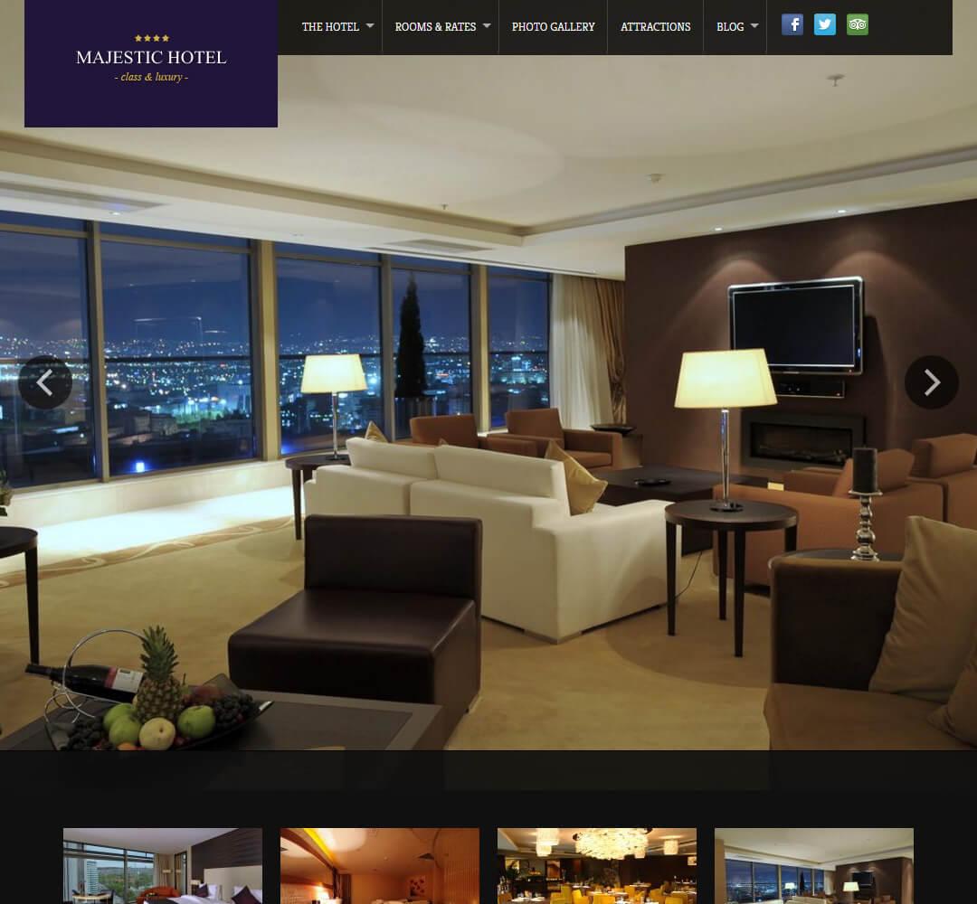 Majestic Hotel Business WordPress Theme