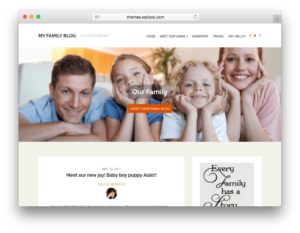 My Family Blog WordPress Theme