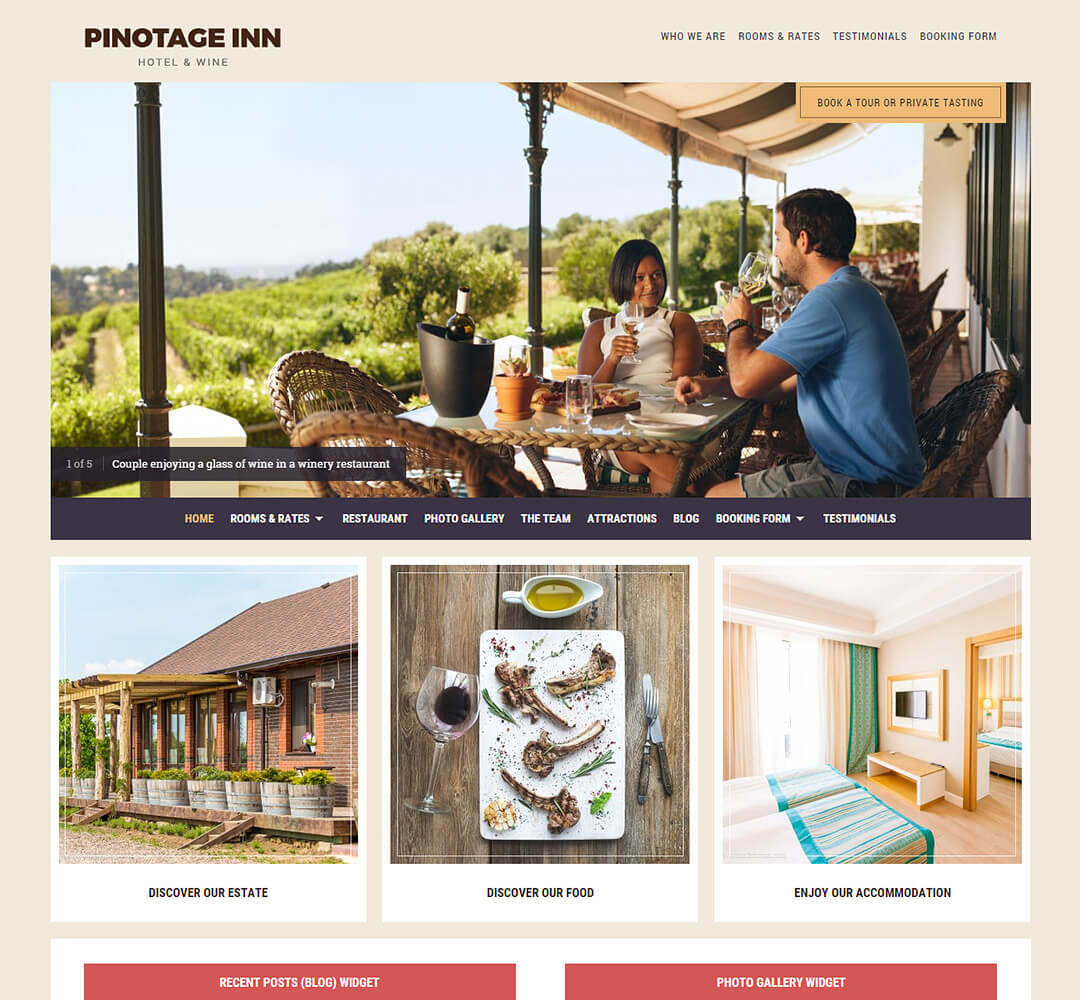 Pinotage Hotel Business WordPress Theme