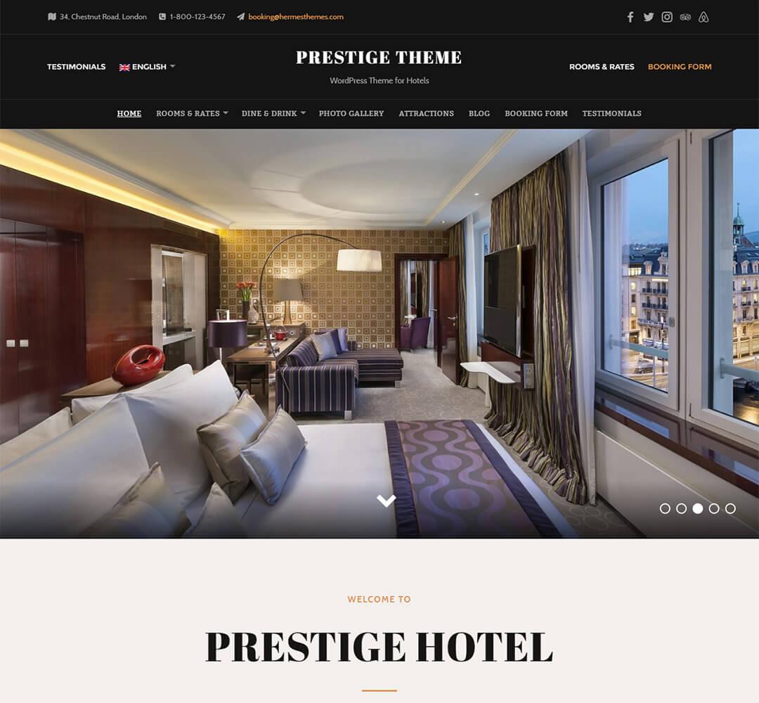 Prestige WordPress Hotel Business Theme