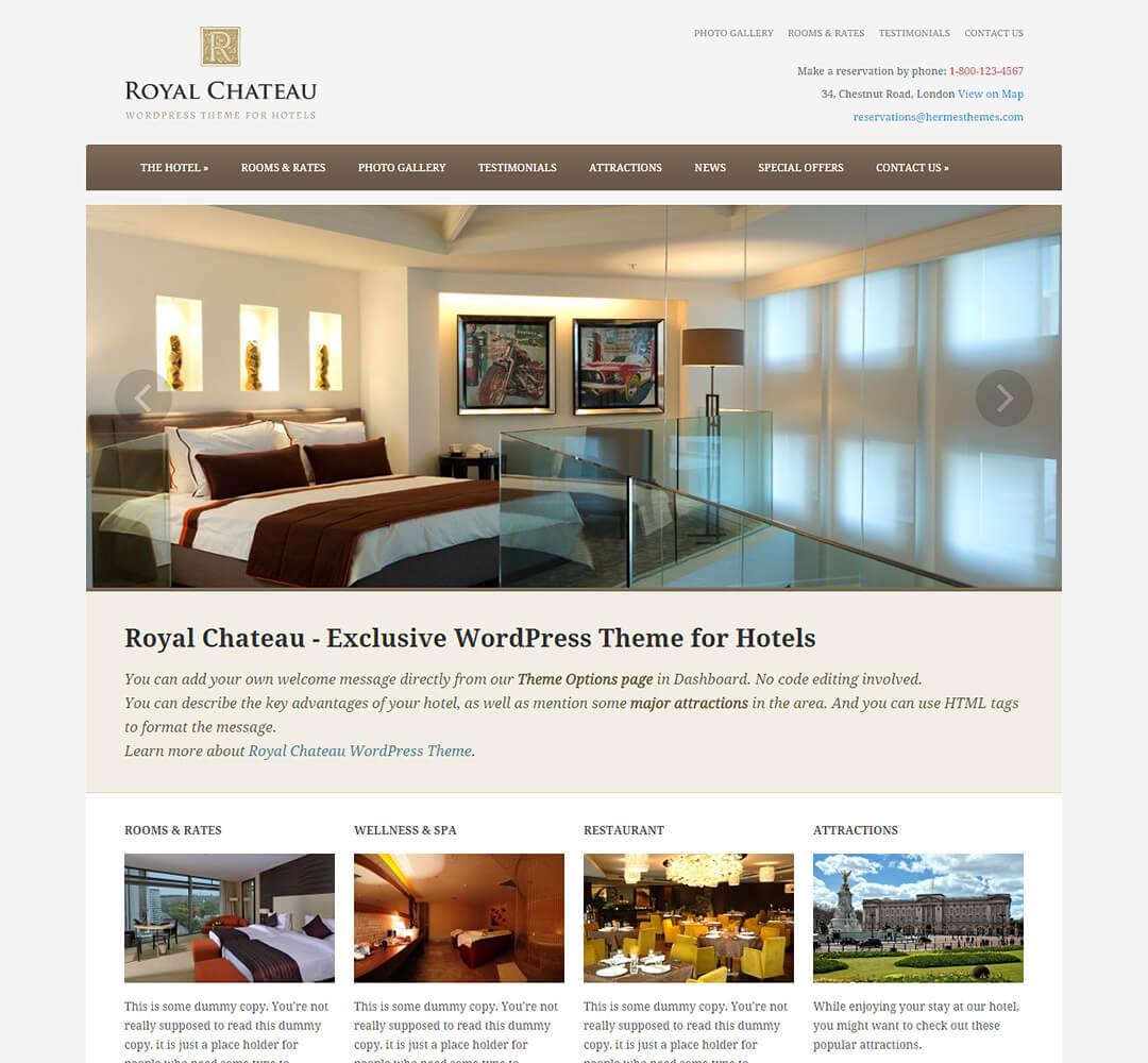 Royal Chateau WordPress Hotel Business Theme