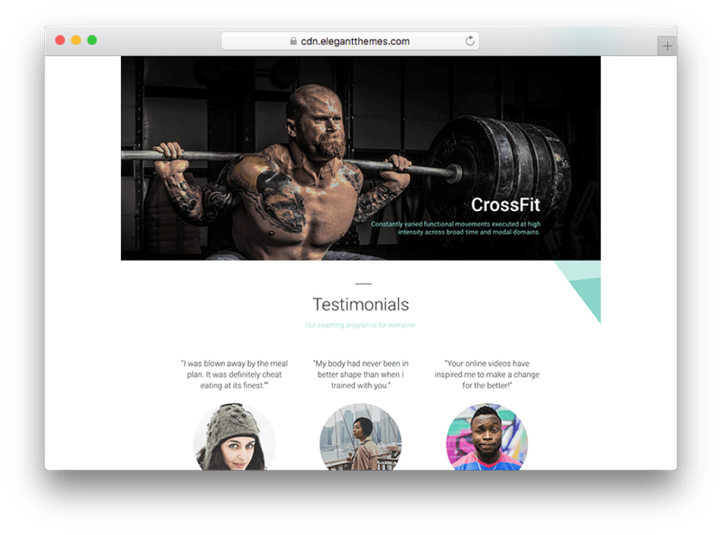The Divi WordPress Crossfit Theme